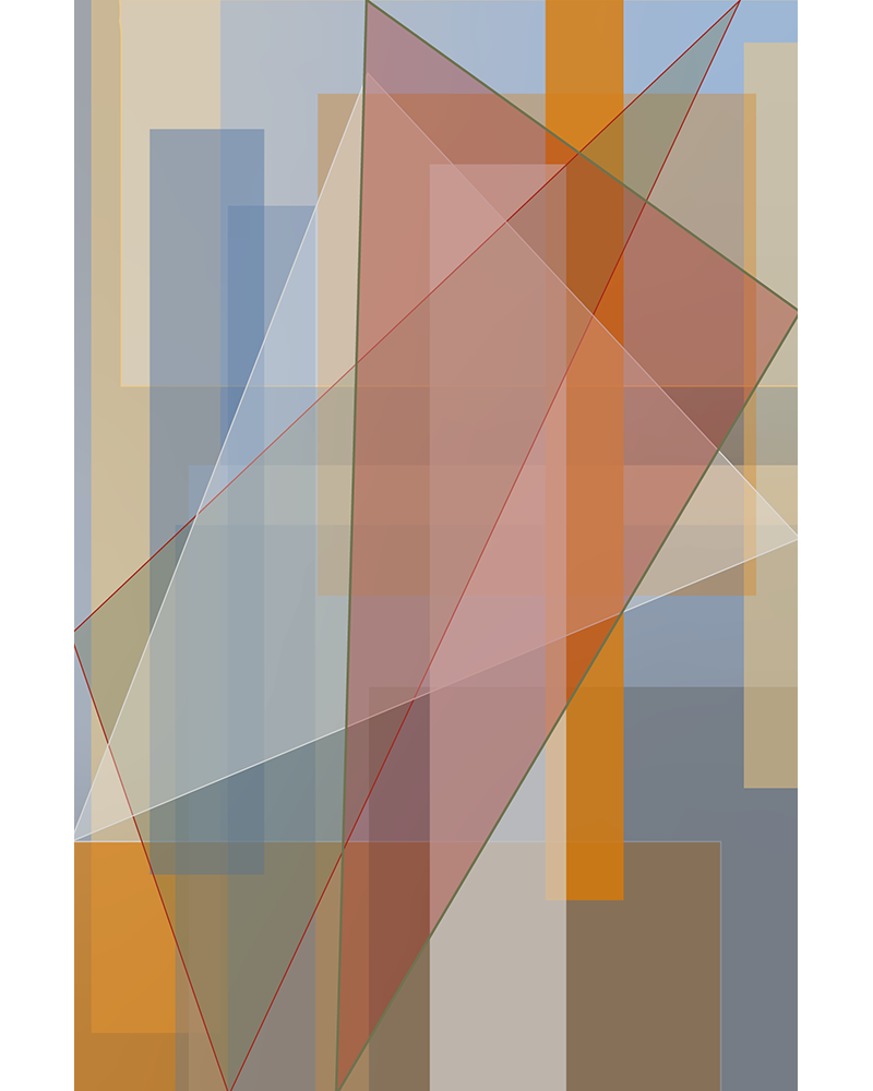 """""""6s and 9s"""" — a generative nonobjective vector composition made with Processing and Adobe Illustrator."""