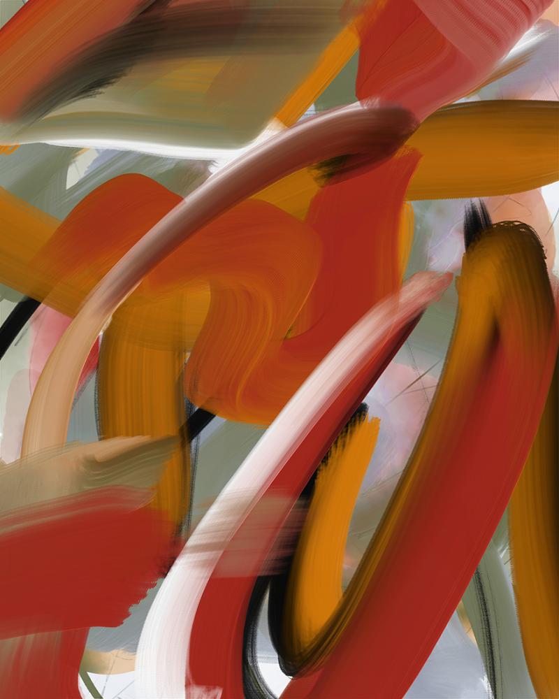 """24 June"" nonobjective digital painting"
