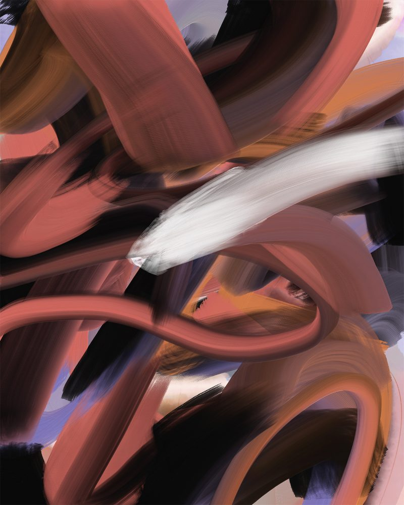 """""""25 June,"""" nonobjective digital painting from the cinquantadue series made using Adobe Fresco."""